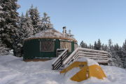 Photo: Elkhorn Yurt, Banner Ridge Parking
